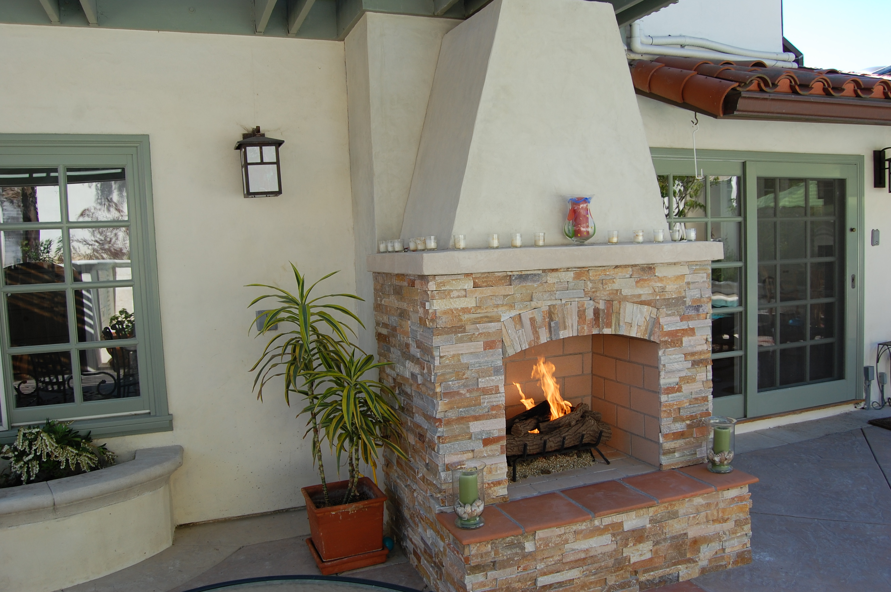 Fireplace design custom outdoor fireplace portable for Spanish outdoor fireplace