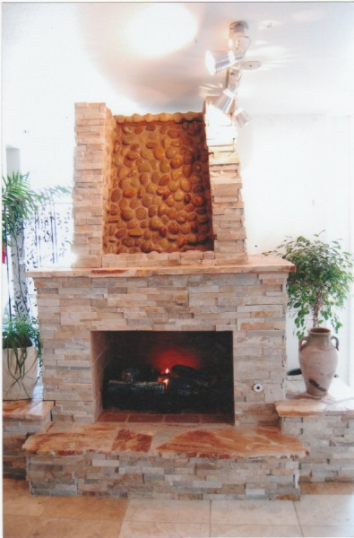 Fireplace With Waterfall Custom Fireplace Design In