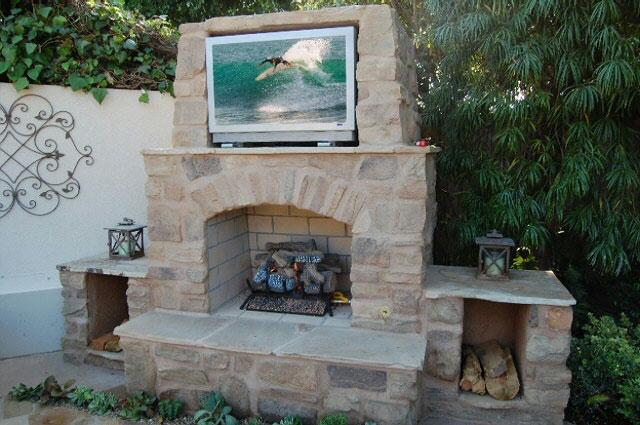 Classic Tuscany Custom Fireplace Design In Orange County California