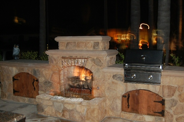 Classic Tuscany Custom Fireplace Design Orange County