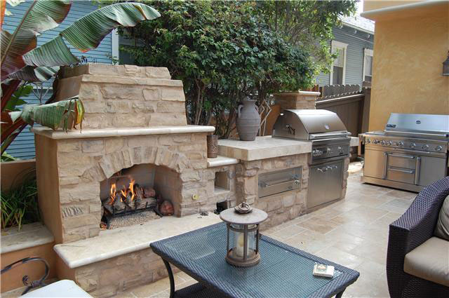 Photos custom fireplace design in orange county california for Fireplace and bbq