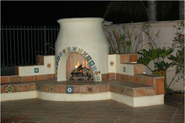 Spanish style southern cal fire for Spanish outdoor fireplace