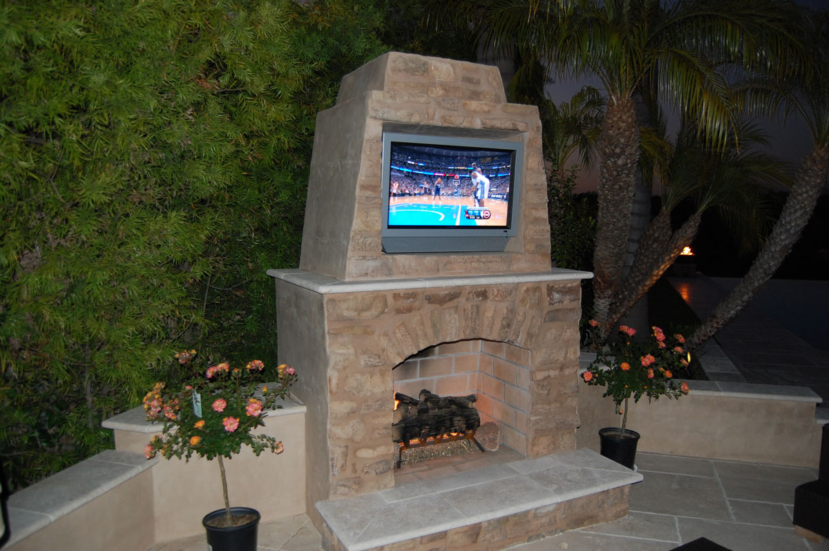 classic tuscany custom fireplace design in orange county california